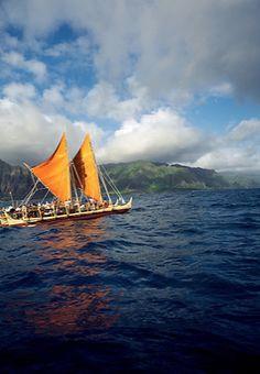 boat hawaii Polynesian voyaging canoe Hokule'a, Windward...