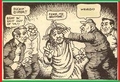R. Crumb Robert Crumb, Gilbert Shelton, Fritz The Cat, Comic Art, Comic Books, Alternative Comics, Political Art, Book Art, Folk