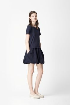 Bubble hem dress