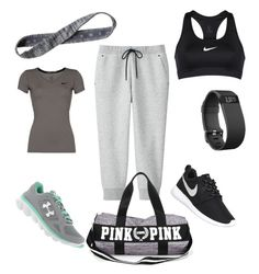 """""""Untitled #165"""" by dr-azzko ❤ liked on Polyvore featuring Uniqlo, Under Armour, NIKE, Athleta and Fitbit"""