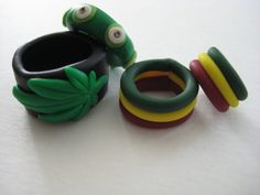 Hand made clay dread beads! <3 Find them at my etsy shop, The Crystal Cupcake.