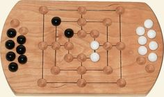 Nine Mens Morris Board Game by Jay's Woodshop.