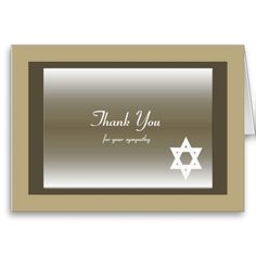 This classic Jewish Sympathy Thank You Note Card features a Star of David. Sympathy Thank You Notes, Funeral Thank You Notes, Thank You Greeting Cards, Thank You Greetings, Thank You Note Cards, Custom Thank You Cards, Thank You Card Template, Smudging, Paper Texture