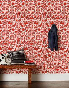 Feeling brave? This fancy #red #wallpaper is an instant way to make a real statement in your #home. For more inspiration, click here - http://www.web-blinds.com/blog/fiery-tones-for-the-festive-period/