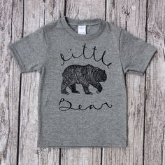 Made by LasRoseApparel Little Bear toddler shirt - toddler T-Shirt - Printed with unique hand carved art stamps woodland grizzly bear West Coast Canada Mama Bear Shirt, Family Shirts, Mommy And Me, Diy Clothes, Printed Shirts, Print Design, T Shirts For Women, West Coast, Hand Carved