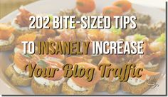 202 Bite-Sized Tips To Insanely Increase Your Blog Traffic