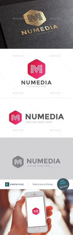Numedia Letter M Logo Template - Letters Logo Templates