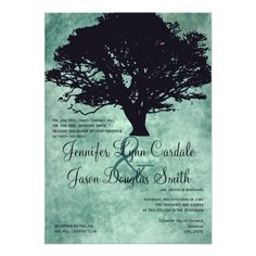 See MoreBlue Mist Oak Tree Silhouette Wedding InvitationsThis site is will advise you where to buy