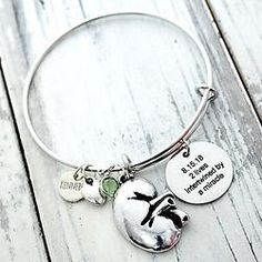 Sports Accessory Store Custom Kidney Cancer Awareness Never Give Up Choose MOM OR DAD Charm ONLY Bracelet Jewelry