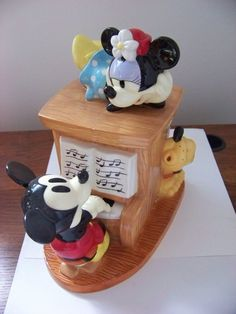 Mickey & Minnie Cookie Jar by the Disney Store