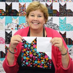 Make a Pins and Paws Cat Quilt with Jenny Doan!