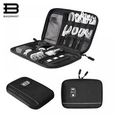 BAGSMART Electronic Organizer Travel Universal Cable Organizer Electronics Accessories Cases for Cab Best Travel Accessories, Electronics Accessories, Men's Accessories, Cable Organizer, Household Cleaning Supplies, Computer Case, Bag Organization, Sd Card, Usb Flash Drive