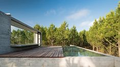 Rooftop pool offers sea views at Luciano Kruk's board-marked concrete summer house