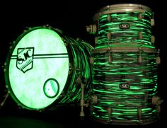 Zac Hanson's custom SJC Drum kit.  Check it out on #DrumHeads www.drumheads.tv