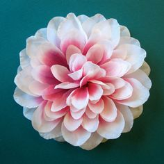 White and Pink Dahlia Hair Flower or Pin - Bridesmaid Flower Hair Accessory by HairFair on Etsy https://www.etsy.com/listing/98278348/white-and-pink-dahlia-hair-flower-or-pin