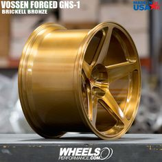 """Beautiful concave @Vossen Forged GNS-1's finished in Brickell Bronze. These start at $1300 per wheel in 19"""" and go all the way up to 24"""" at $1800 per wheel. Reach us at 1.888.239.4335 or @WheelsPerformance to help you spec your set!"""