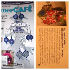 I was featured in Polymer Clay Cafe magazine for a flower challenge.