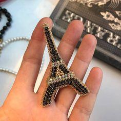 430 отметок «Нравится», 1 комментариев — ЛУЧШИЕ УКРАШЕНИЯ ручной работы (@handmade_ru_jewellery) в Instagram: «Repost @zefirinastudio by @media.repost: Small crystal lapel pin Eiffel Tower brooch. #brooch…»