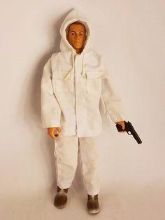 "GI Joe 12"" Action Figure 1996 Pawtucket Figure Clothes Boots Jointed Lot #11 #Hasbro"