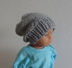 Newborn Hipster Hat Baby Fall Winter Hat boys by IfonBabyLand