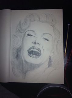 Draw this, it's Marilyn Monroe ! #drawing #realistic #proud