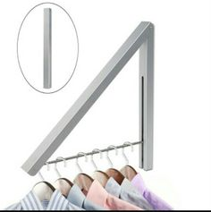 2 such foldable brackets on the wall behind each bedroom door, to hang reusable clothes. Ensure comfortable space for hangers in between the 2 brackets