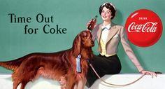 (Coke code 140) 1950년 6월 25일에 직장에 애완견을 데리고 가는 날이었다고 하네요:) 그날의 코카-콜라 포스터에는 코카-콜라와 멋진 애완견이 등장하는군요!
