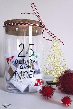 Voilà une chouette idée de calendrier de l'Avent pour patienter avant Noël : 25 activités à faire en famille !Chaque jour, on pioche ensemble une recette de Noël, un super bricolage, une idée de décoration de fêtes, une sortie ou un jeu en famille...Des idées d'activités pour attendre Noël à retrouver sur Momes ;)