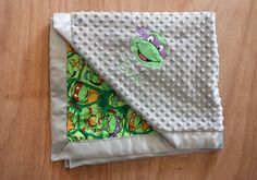 Teenage Mutant Ninja Turtle blanket solid minky your by FourLoves