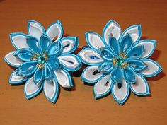 Handcrafted floral ponytail holder Set of by KanzashiAccessories
