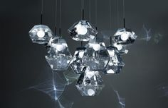 British designer Tom Dixon will launch several new lighting collections at Milan design week, including Cut, which casts a kaleidoscopic reflection. Tom Dixon, Cheap Pendant Lights, Modern Pendant Light, Verre Design, Glass Design, Pendant Lamp, Pendant Lighting, Milan Design Week 2017, Chandelier Art