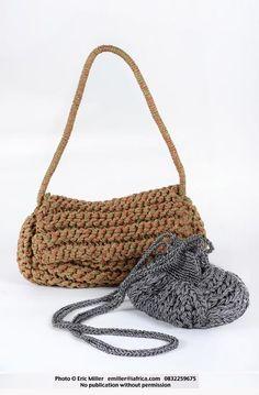 Bags, handknitted, Channel style - Lulu K Designs