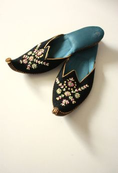 Vintage Turkish Slippers - mine would be velvet and cotton -hand made by elves!