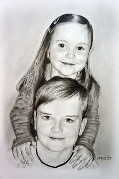 Portrét dětí - Dry Brush