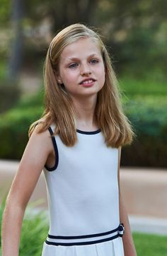 4 August 2016 - Princess Leonor of Asturias during the annual summer photocall at the Marivent Palace