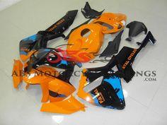 Orange & Black 2005-2006 Honda CBR600RR Kings Motorcycle Fairings Cbr 600rr, Rear Seat, Honda, Golf Bags, Abs, Orange, Black, Motorcycle, Watch