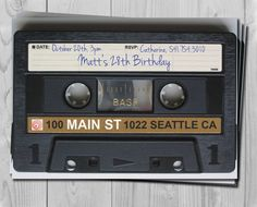 cassette tape invitation Wedding Invitations Paper Goods