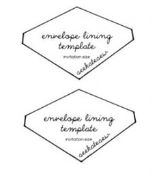 Envelope Lining Template
