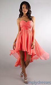 Buy High Low Strapless Sweetheart Dress at SimplyDresses