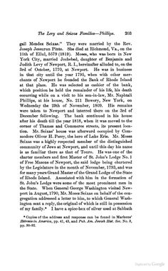 """MOSES SEIXAS """"His death ocuring while on a visit to his son-in-law, Mr. Naphtali Phillips, at his house, No. 211 Bowery..."""" (N. Phillips is listed as living at 213 Bowery in all other sources so 211 is almost certainly an error. 211 Bowery however shares a party wall with 213 Bowery and is also still standing (2016). Built together as a pair before 1805, date needed.)"""