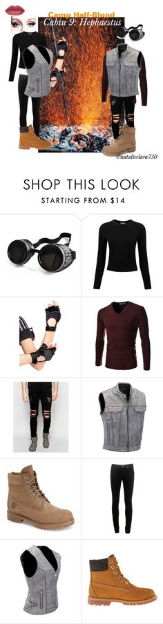 """Camp Half-Blood Cabin 9"" by natalieclara730 ❤ liked on Polyvore featuring Poizen Industries, Pure Collection, Leg Avenue, TheLees, Dark Future, Timberland, rag & bone, percyjackson, pjo and camphalfblood"