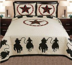 Fancy Collections 3-piece Western Horse Rider Cabin / Lodge Quilt Bedspread Coverlet Beige, Black (Full/queen) Fancy Linen http://www.amazon.com/dp/B00NVT1ZGA/ref=cm_sw_r_pi_dp_Uj4lwb0VKZPEA