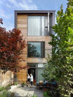 Minimalist three-storey single family residence designed by LGA situated in Toronto, Canada.