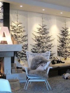 christmas tree curtain - IKEA - decor