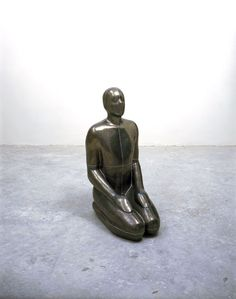 "Antony Gormley [UK] (b 1950) ~ ""AIR I"", 1994. Lead, plaster and air (105 x 70 x 49 cm). 