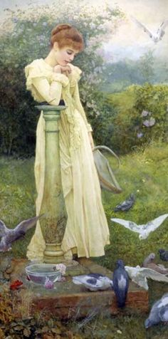 Feeding the doves, Edward Killingworth Johnson