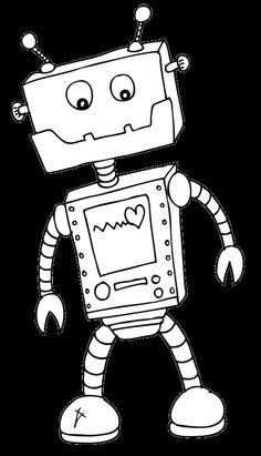 Robot Colouring Image