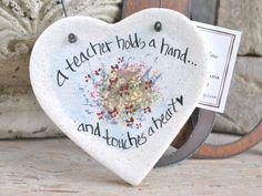 Teacher Gift Heart Salt Dough Ornament