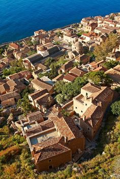 Arial view of Monemvasia in the southeastern Peloponnese (prefecture of Laconia)