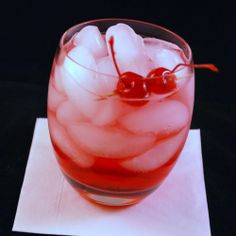 Dirty Shirley - 1-2 oz Vodka, 5oz Sprite or 7-up, 1/2 oz Grenadine, Marashino Cherries for Garnish.